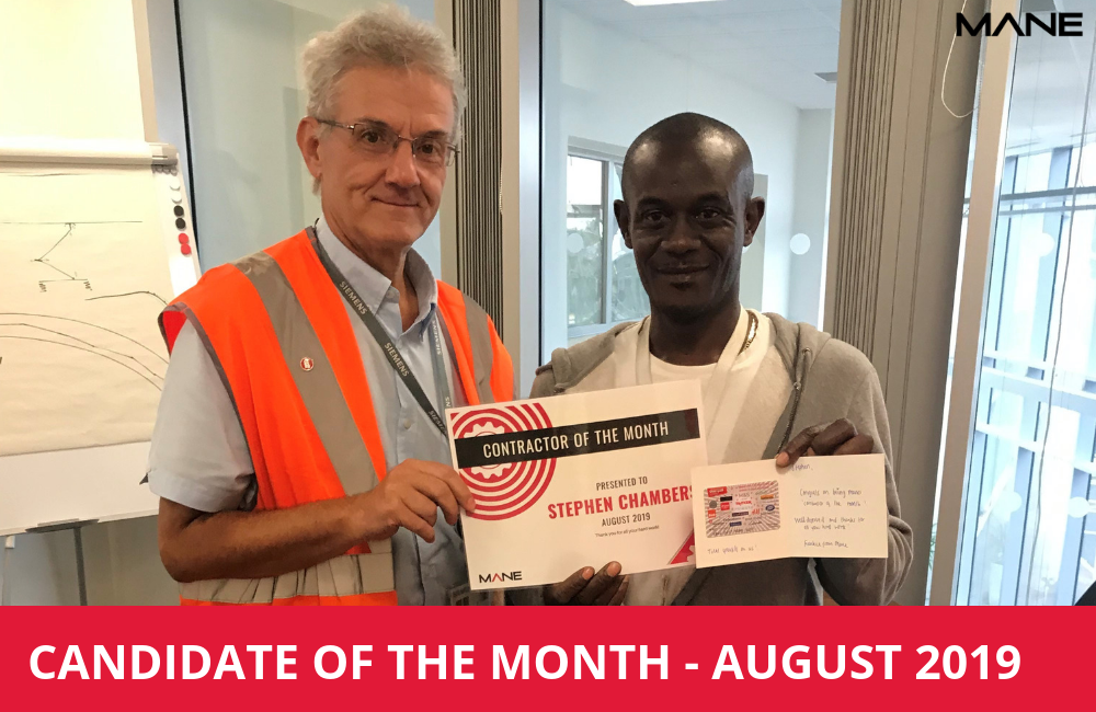 Candidate of the Month – August 2019