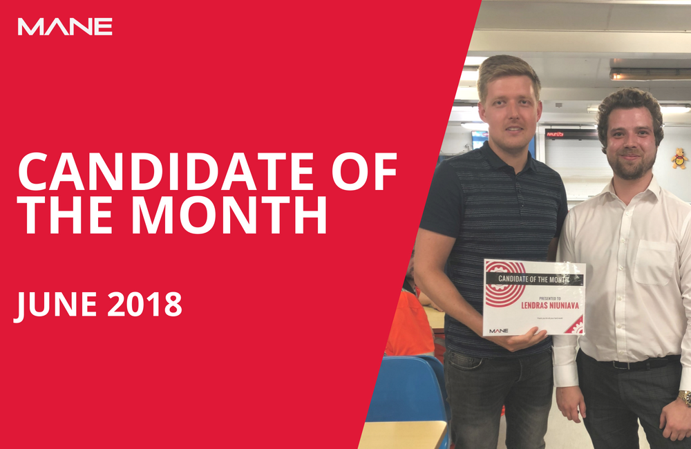 Candidate of the Month - June 2018