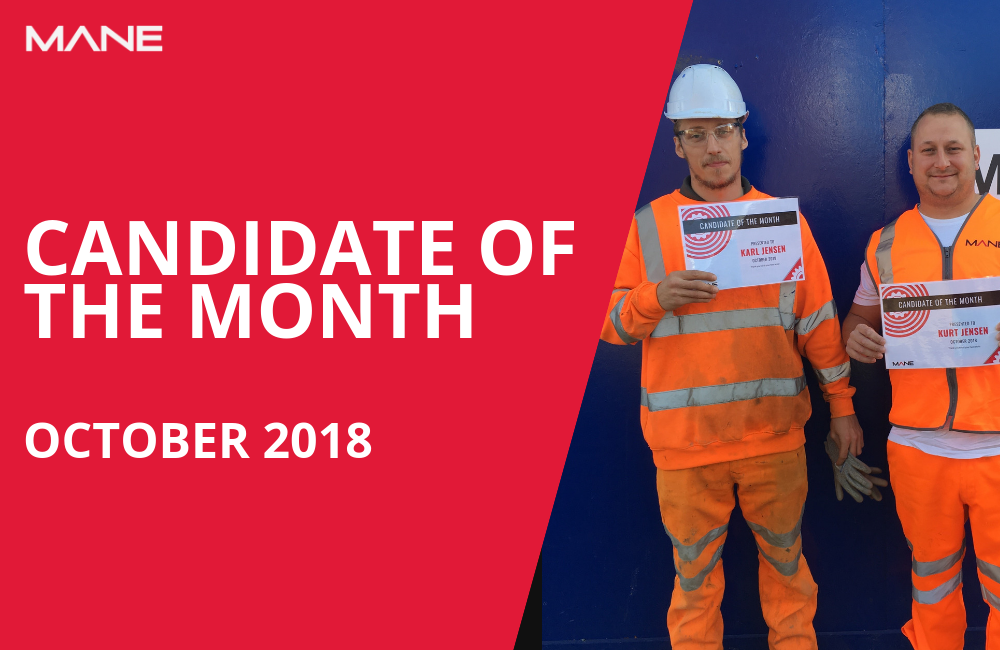 Candidate of the Month - October 2018