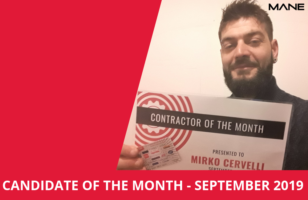 Candidate of the month - September 2019