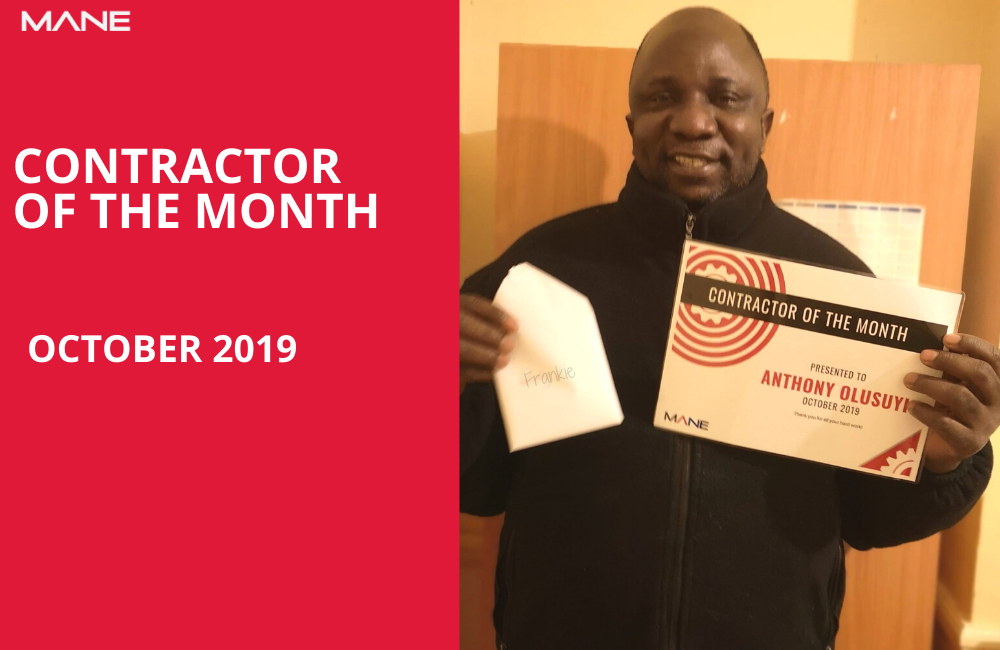 Contractor of the Month – October 2019