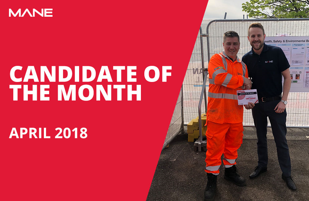 Candidate of the Month - April 2018