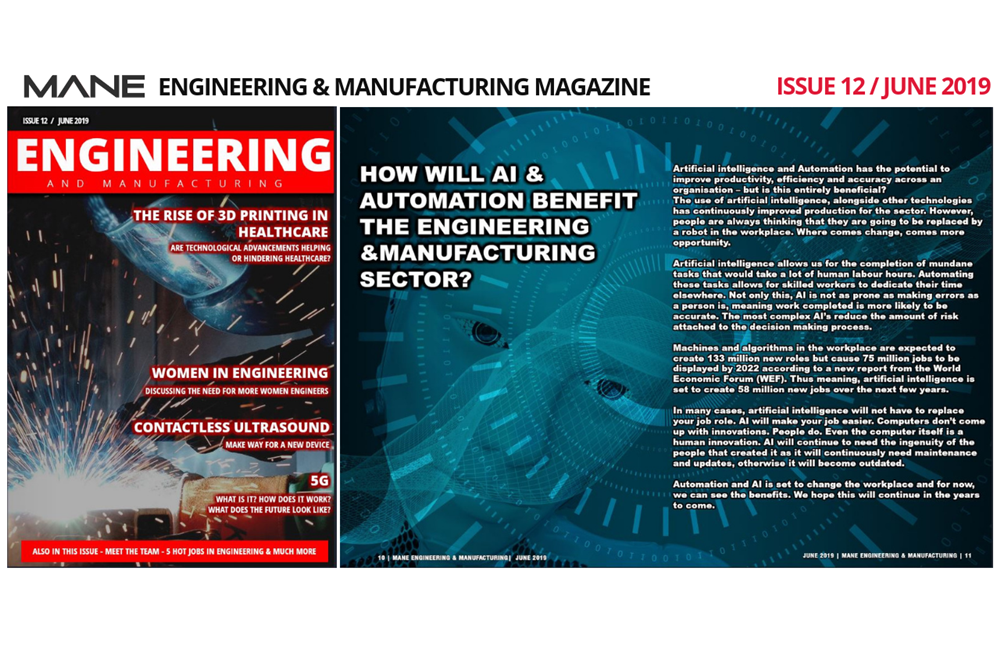 Mane Engineering & Manufacturing Issue 12 - June 2019