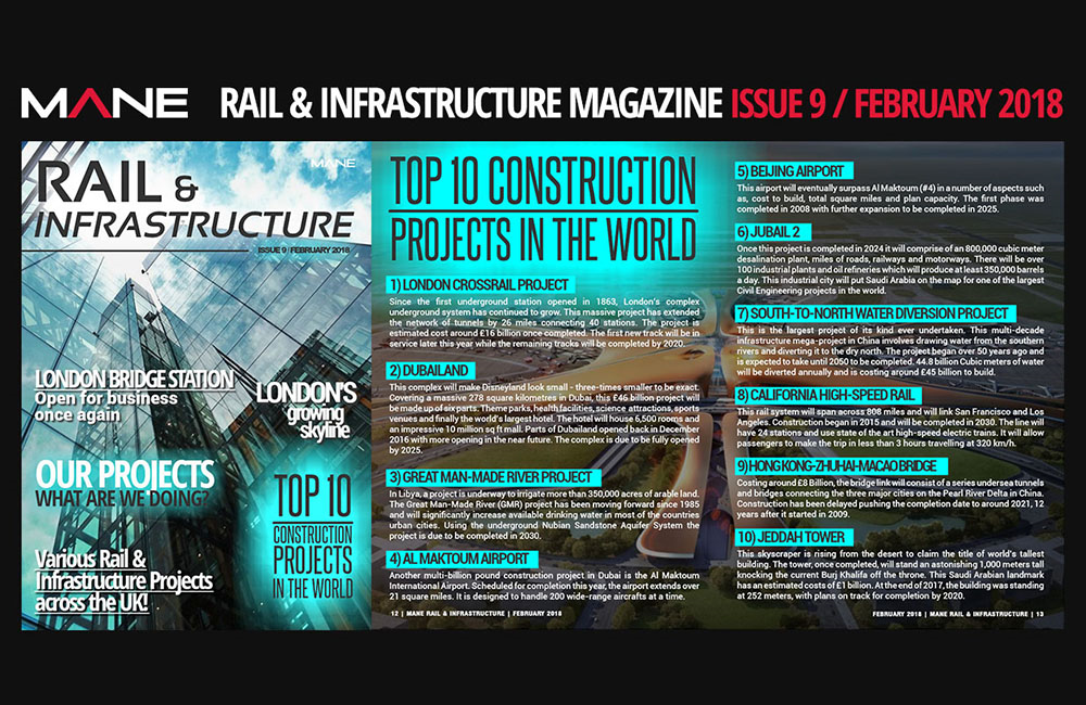 Mane Rail & Infrastructure Magazine Issue 9 - February 2018